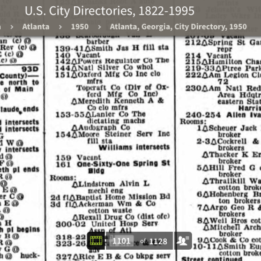 1950 City Directory - 151 Spring St