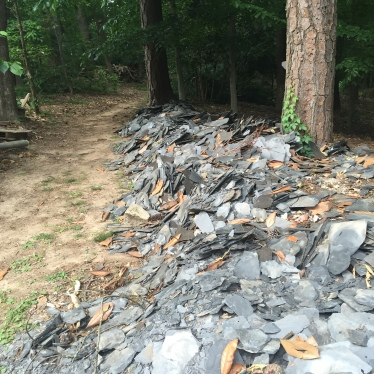 piles of Rockmart slate